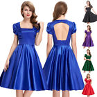 5 Colors Womens VINTAGE 40S 1950'S STYLE Swing Pin UP TEA Party Dress
