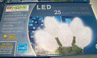 C7 CHRISTMAS STRING LIGHTS LED COOL WHITE 25 BULBS DIAMOND CLEAR WEDDING HOLIDAY