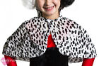 CHILDS VELOUR DALMATIAN PRINT CAPE BOOK WEEK FANCY DRESS MOVIE CHARACTER COSTUME