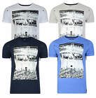 Firetrap Printed T-shirt New Mens City Bridge Crew Neck Graphic Print Cotton Tee