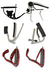 PRO GUITAR CAPOS acoustic electric adjustable trigger flat curved lever elastic