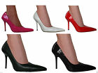 WOMENS MENS LEATHER LOOK POINTED SMART OFFICE COURT HEEL SHOES SIZE 3 - 11 NEW