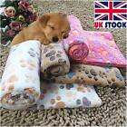 Pet Dog Puppy Cat Pig Paw Print Fleece Small Large Warm Soft Blanket Beds Mat
