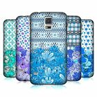 HEAD CASE DESIGNS FLORAL BLUE HARD BACK CASE FOR SAMSUNG GALAXY S5 S5 NEO