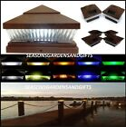 Solar Post Cap Deck Fence LED Lights 5x5 or 6x6 Painted T...