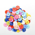 100 PCS 4 Holes 5 Sizes Round Buttons Clothing Sewing DIY Craft for Kids