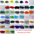 Wholesale!!! 1000pcs 3mm #5301 Austria Crystal Bicone beads DIY Jewelry Making
