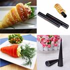 HOT 2x Non-Stick Dessert Cake Cannoli Cone Round Form Tubes Bread Baking Tool wm