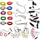 1M EL Wire Neon LED Light Glow String Strips + Controller + Inverter Connector