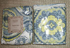 Global Collection 1 standard Quilted blue white yellow paisley pillow sham