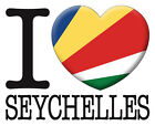 NEW Printed T-SHIRT Quality I LOVE SEYCHELLES Flag, All Sizes, All Colours