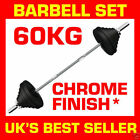 Barbell Set 60kg Triceps Curl Bar Weight Plate Weightlifting Training