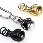 Silver/Gold/Black Boxing Glove Necklace Pendant Mens Gym Jewelry Stainless Steel