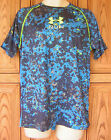 Under Armour Men's Run Logo Mileage Short Sleeve Blue Camo T Shirt 1266019 405
