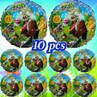 10pc ZOMBIES Plants vs Zombies Flowers Sun Foil Balloons Birthday Party Supplies