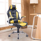PU Office Chair Adjustable Recliner High Back Swivel Racing Seat w/ Pillow