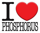 BRAND New T-SHIRT Quality PRINTED Funny I LOVE PHOSPHORUS, All Sizes All Colours