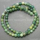 """Natural Green Moss Agate Gemstone Round Loose Beads 4mm 6mm 8mm 10mm 12mm 15"""""""