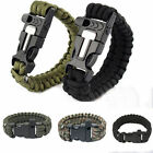 Fashion Mens Womens  Emergency Outdoor Survival Paracord Bracelet Rope Whistle