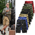 Hot ON SALE ! Men's Cargo Pants Casual Military Combat Army CAMO Shorts Trousers