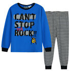 Pyjamas Boys Winter Cotton Knit Pjs (Sz 8-14) Set Blue Rock Sz 8 10 12 14