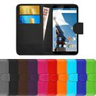 Leather Flip Cover For Motorola Google Nexus 6 Wallet Phone Case FREE Protector