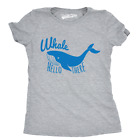 Womens Whale Hello Funny T shirts Novelty Whale Hilarious Te