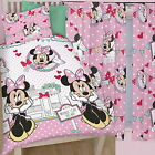 "Minnie Mouse Cafe Single Duvet and Matching Curtains Set 54"" or 72"" Drop Bed Set"