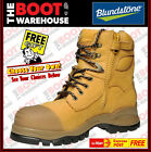 Blundstone 992. Steel Toe Safety Work Boots. Wheat Zip Side, FREE GIFT OPTION!
