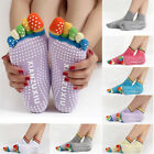 Womens Girl Exercise Pilates Yoga Five Sport Fitness Non-slip Massage Toe Socks