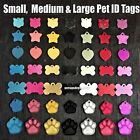 Deep Engraved S/M/L Dog Animal Puppy/Cat/Kitten Collar Pet ID Color Disc Tags !