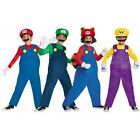 Mario and Luigi Costumes Kids Super Mario Bros Halloween Fancy Dress