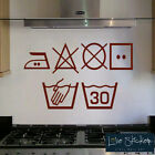 Laundry Symbols Washing Kitchen Utility Wall Art Stickers Decals Vinyl Home Room