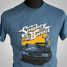 Smokey and The Bandit Movie Themed Retro T Shirt Burt Trans Am 70's indigo blue