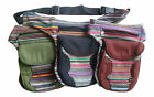 FAIR TRADE FESTIVAL BOHO COTTON TRAVEL PASSPORT BAG UTILITY HIP BELT ORGANIZER
