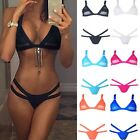 Women Sexy Bandage Brazilian Triangle BIKINI Set Push-up Swimsuit Swimwear FO