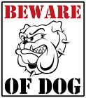 Beware of Dog Decal Bumper Sticker