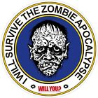 Zombie Apocalypse Decal Bumper Sticker