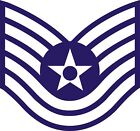 US Air Force USAF Technical Sergeant Rank Insignia Decal / Sticker