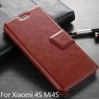 New Card Slots Leather Wallet Flip Proective Case Cover Stand For Xiaomi 4S Mi4S