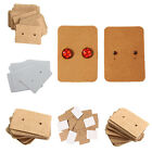 100X Professional Type Earring Ear Studs Holder Display Hang Kraft Cards Paper