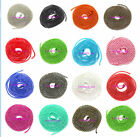 Hot sale!! 10/50pcs Ball Metal 1.5mm Beads Chains Necklace many color Finding
