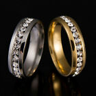 Size 16-21 Titanium Ring Crystal Men Women Wedding Stainless Engagement CYGK