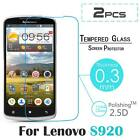 """2x Real Premium Tempered Glass Film Screen Protector Guard For 5.3"""" Lenovo S920"""