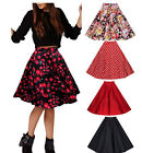 CC Women ladies Pleated Vintage Flower  Skirts Floral Print Midi Skirt dress