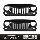 Eagle Eye Matte Black Front End Angry Grill Grille Grid for 07-16 Jeep Wrangler