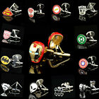 Fashion Men Shirt Square DC Marvel Groom Super Hero Cuff Links For Nice Gift $1.99 USD