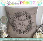 PERSONALISED VALENTINES DAY ANNIVERSARY ENGAGEMENT WEDDING CUSHION CANVAS GIFT