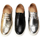 Leather  Men sneakers lace up oxfords Round Toe casual shoe Brogue Oxford Shoes