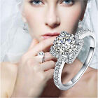 1Piece Fashion Silver Plated Women SIZE 6/7/8/9 Wedding Rings Jewelry Gift New